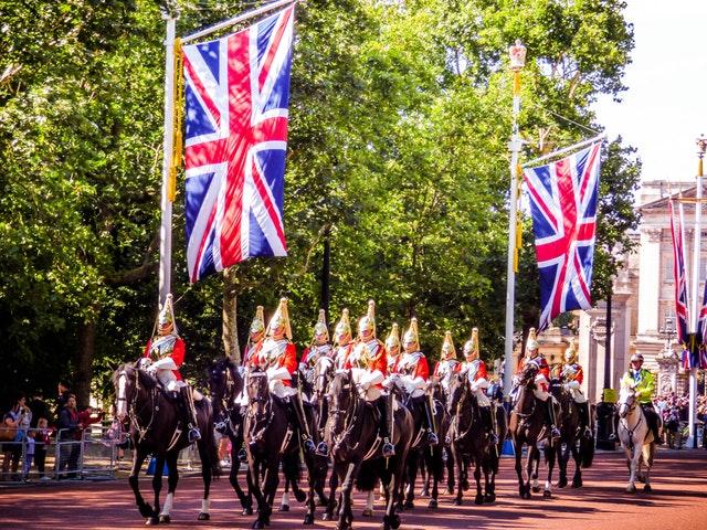 Ridande vakter i London