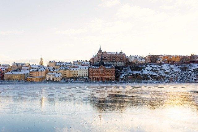Stockholm på vintern