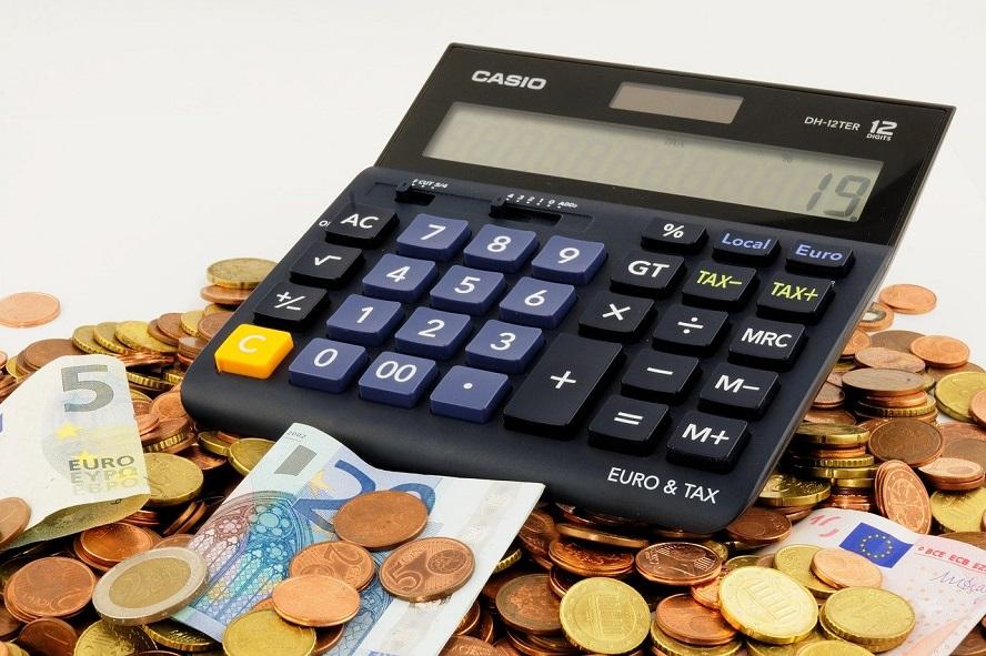 Miniräknare och pengar